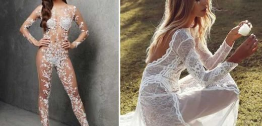 'Naked' wedding dresses are the most daring trend for brides this year – The Sun