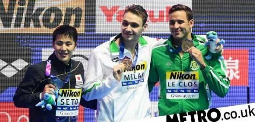 Michael Phelps' world record broken by 19-year-old Kristof Milak