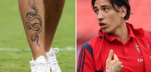 Arsenal star Hector Bellerin shows off giant snake tattoo on leg during Real Madrid clash – The Sun
