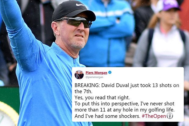 David Duval trolled by Piers Morgan after recording highest Open score in 69 years with 13 on par 5 at Royal Portrush – The Sun