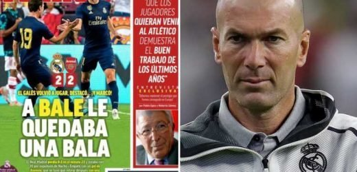 Zinedine Zidane slammed by Spanish media for 'disastrous' Gareth Bale saga which has 'devalued' the Real Madrid forward – The Sun