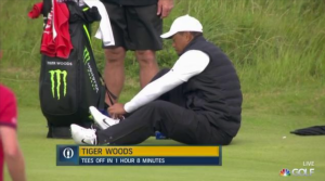 Tiger Woods' back injury so bad he has to sit on the floor to tie his laces at The Open – The Sun