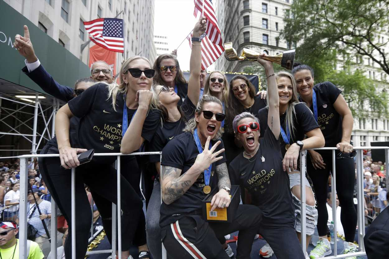 Megan Rapinoe drops F-bomb as part of impassioned victory parade speech