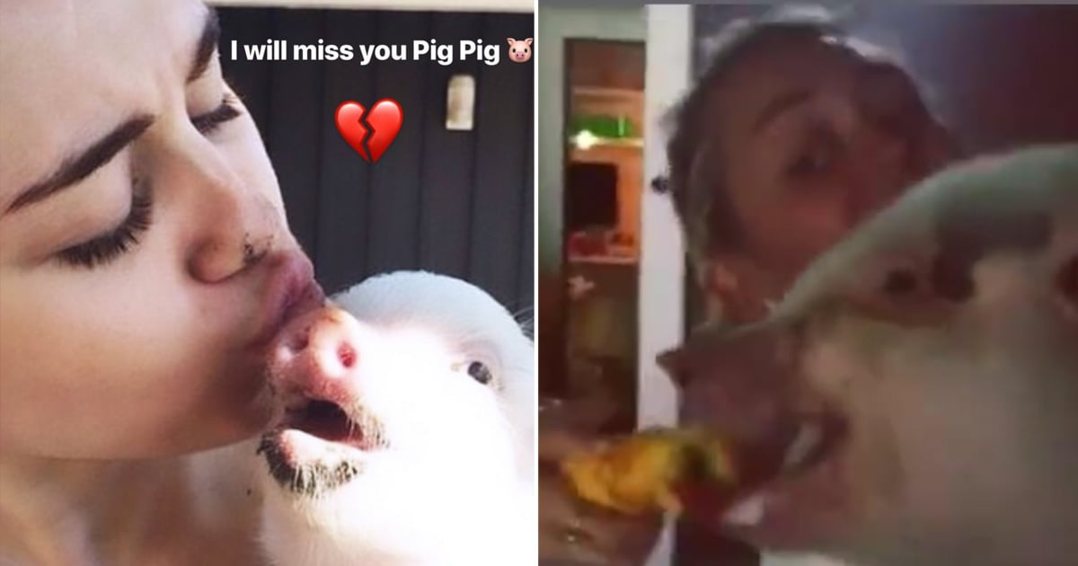 "Miley Cyrus Mourns the Death of Her Pet Pig, Bubba Sue: ""Thank You For So Many Laughs"""