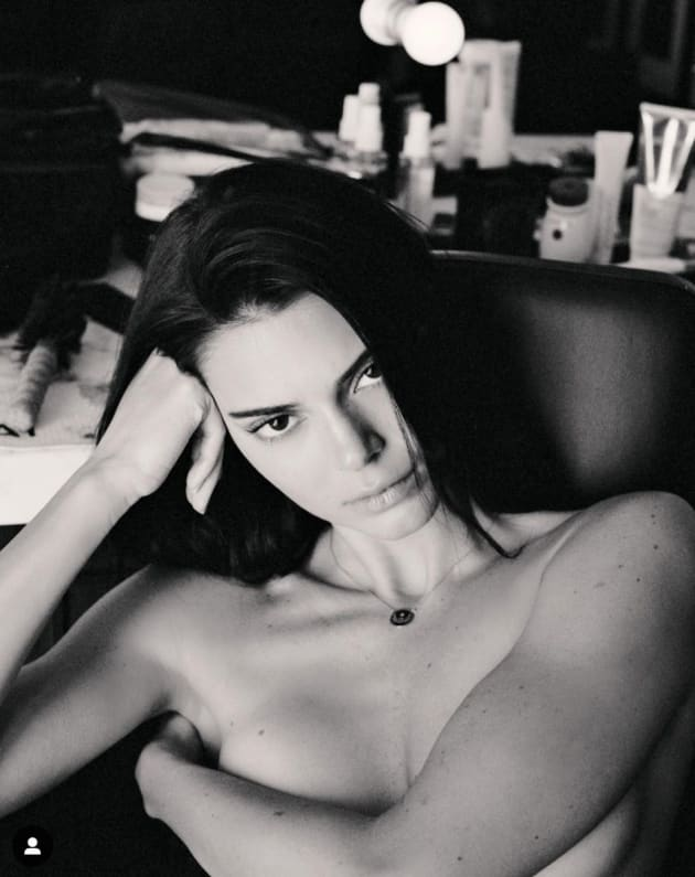 Kendall Jenner Gets Naked to Talk About Acne For Some Reason