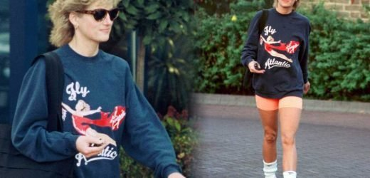 Princess Diana's used workout shirt being sold by her trainer