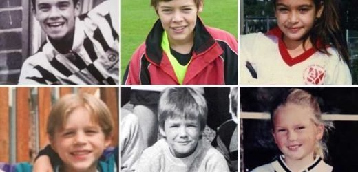 Can you guess who's who from these throwback snaps of footballers and celebrities? – The Sun