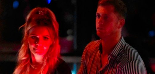Dan Osborne leaves nightclub with woman he was forced to deny having affair with