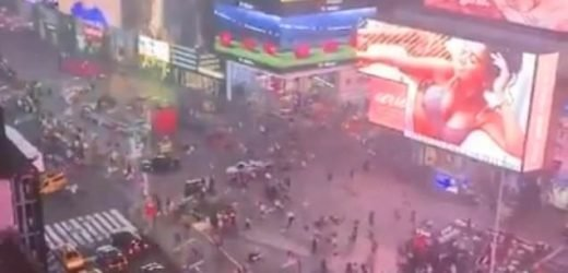 Panic in Times Square as motorcycle backfire sends crowds running