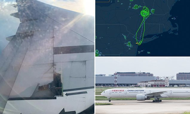 Flight to Shanghai is forced to return to JFK after wing falls apart