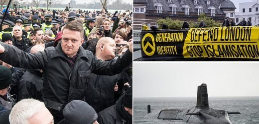 Two Royal Navy members 'are activists in far-Right group'