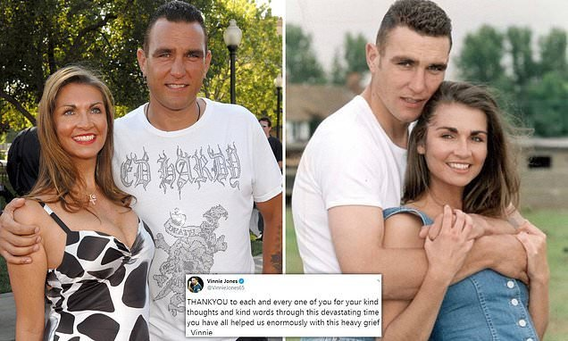 Vinnie Jones speaks of 'heavy grief' following the death of his wife