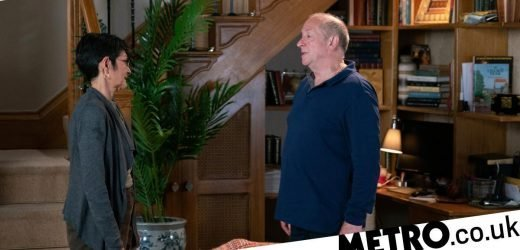 What is wrong with Geoff Metcalfe in Coronation Street?