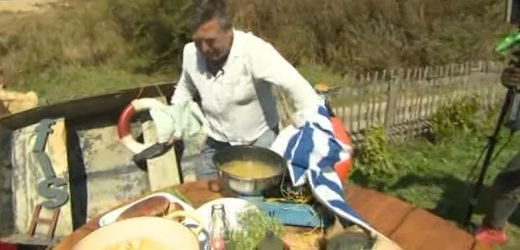 This Morning chaos as helicopter lands on John Torode's cooking set