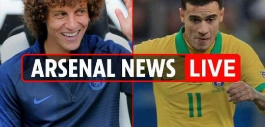 4pm Arsenal transfer news LIVE: Tierney having MEDICAL, Aubameyang and Lacazette 'pen new deals', David Luiz LATEST, Coutinho update, Nketiah leaves – The Sun