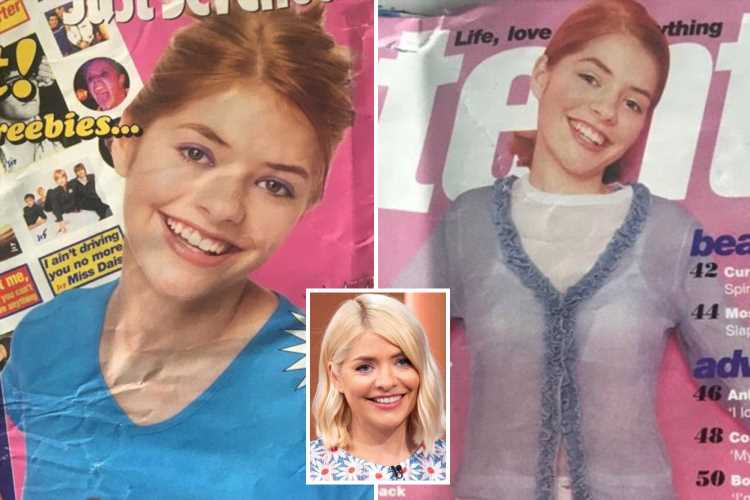 Teen Holly Willoughby pictured with red hair on Just Seventeen cover as throwback modelling photos of her are discovered in a 22-year-old time capsule – The Sun