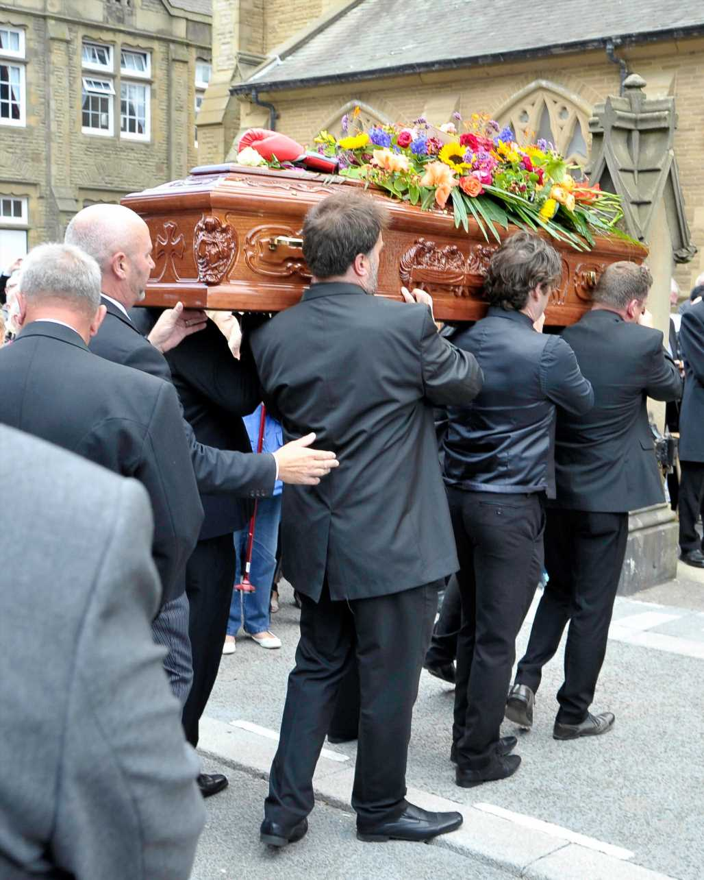 Joe Longthorne funeral – Nolan sisters, Roy Chubby Brown and Ricky Tomlinson among celebs paying their respects to entertainer who died aged 64 after cancer battle