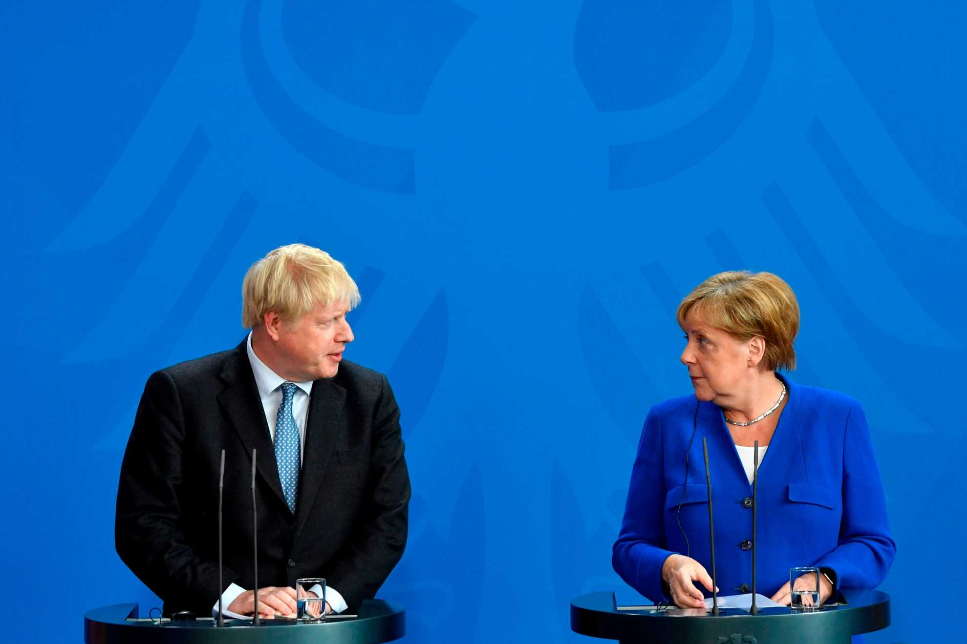 Huge boost for Boris Johnson as Angela Merkel says it's possible to come up with solution to Irish border in 30 days before Brexit in first talks