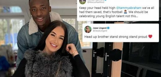 Chelsea striker Tammy Abraham's girlfriend says 'there's a place in hell for racist scum bags' as Man Utd pair Marcus Rashford and Jesse Lingard leap to his defence – The Sun