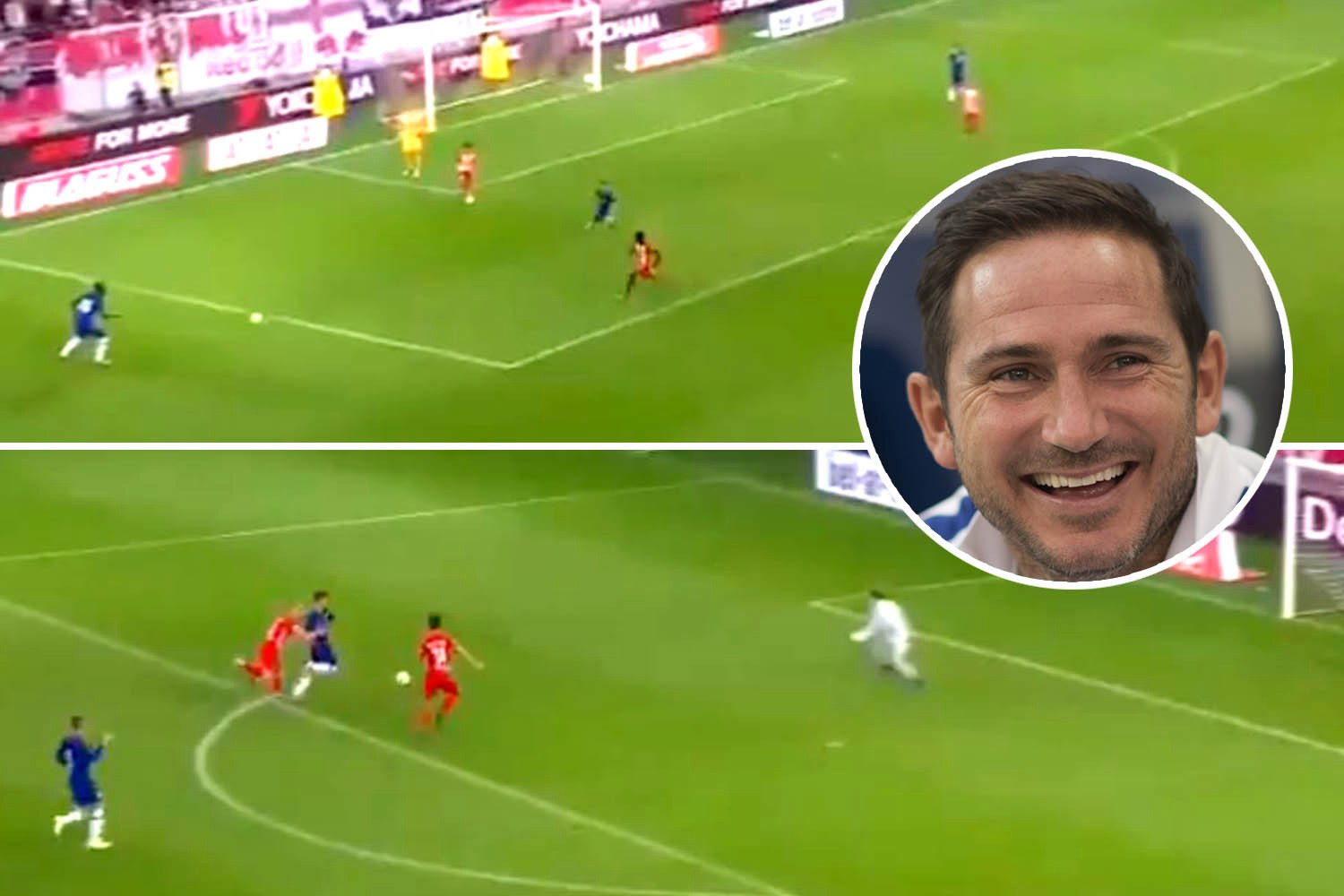 Chelsea fans go mad for 'Frankieball' as incredible footage shows the Blues seamlessly playing out from back to RB Salzburg's box – The Sun