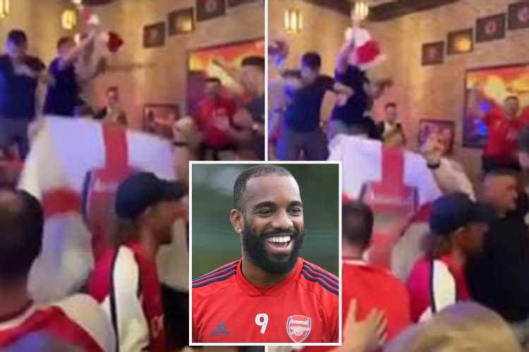 Watch Arsenal fans go absolutely nuts for the new Alexandre Lacazette chant to the tune of 'Spirit In The Sky' – The Sun