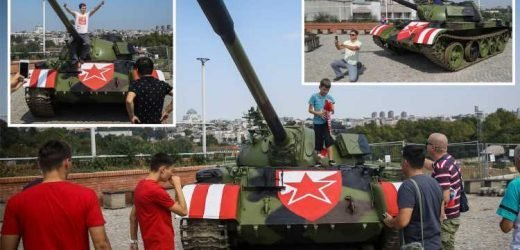Red Star Belgrade fans spark outrage by taking a TANK to their Champions League clash with Young Boys – The Sun