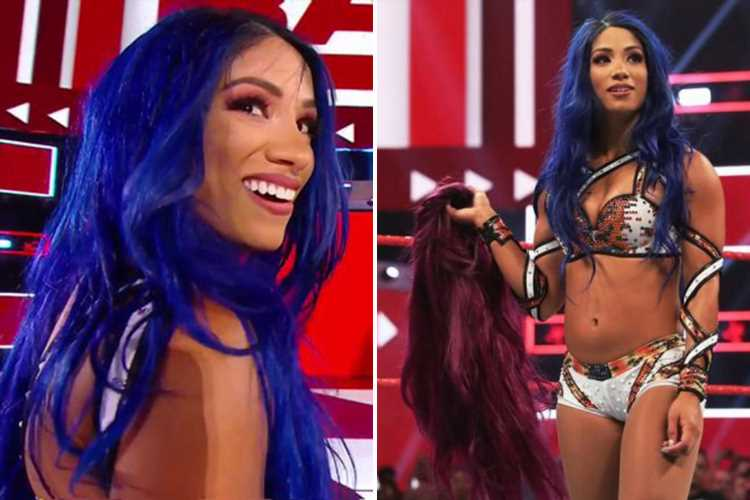 Sasha Banks returns to WWE on Raw with a new-look to attack Natalya and Becky Lynch following four-month exile – The Sun