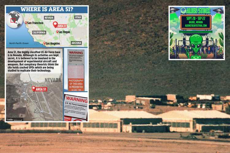 'Storm Area 51' emergency as officials predict up to 40,000 will gather and warn clash with military 'will get ugly'