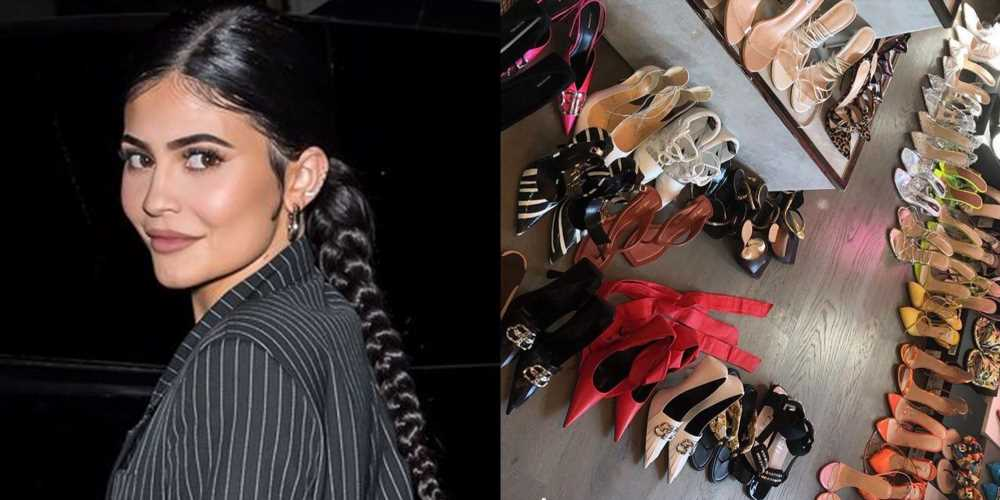 Kylie Jenner's Shoe Closet Is as Massive as You Expected