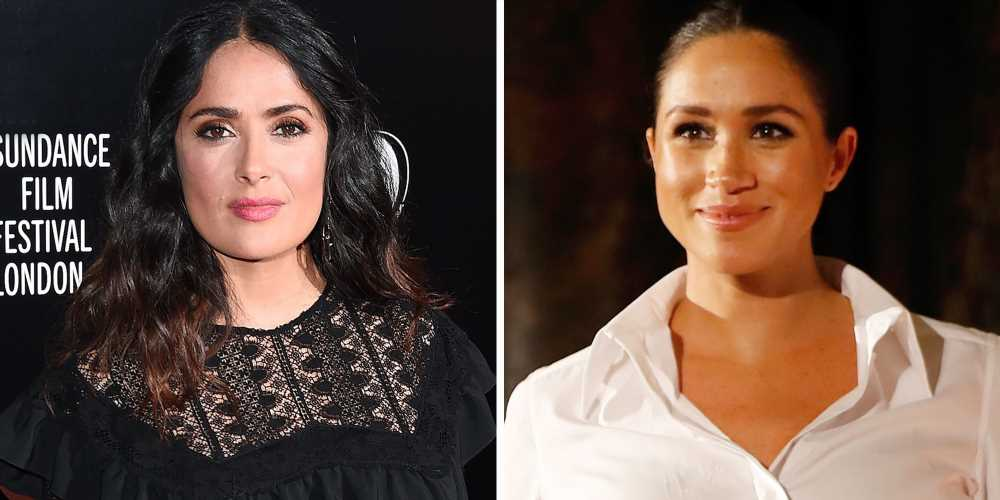 Salma Hayek Couldn't Tell Anyone About Meghan Markle's British Vogue Involvement—Not Even Her Fellow Cover Stars