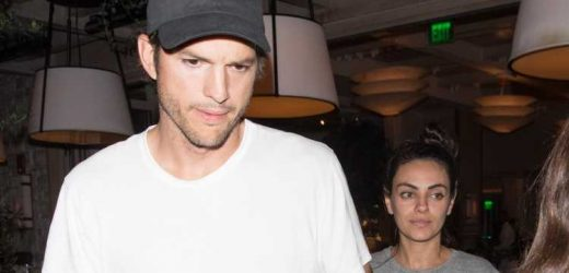 Ashton Kutcher & Mila Kunis Step Out for Dinner with Friends in Beverly Hills