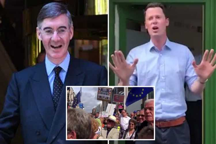 Remainers storm MP's office over Parliament suspension as police braced for No Deal Brexit protest outside Jacob Rees-Mogg's HOME – The Sun