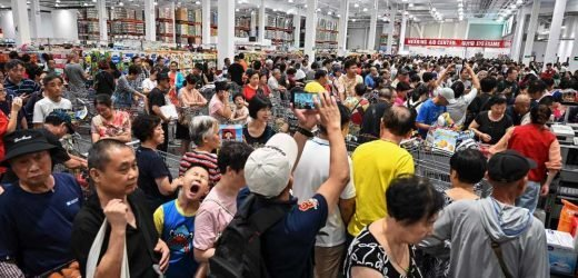 Costco opened its first China flagship store — and things got crazy