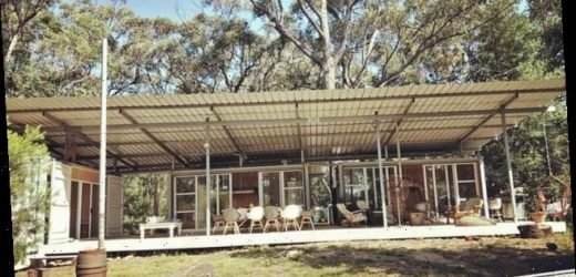 Inside the bushfire-proof container home made entirely out of STEEL