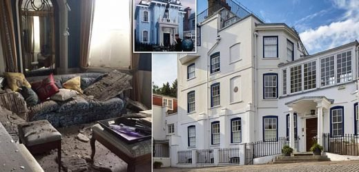 Mary Poppins house ceiling collapses after neighbour built extension