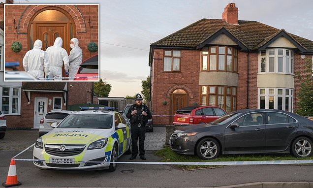 Couple found dead while 'toddler is led away by police'