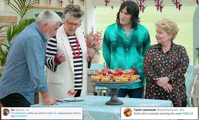 Bake Off viewers go wild over Noel Fielding's 'psychedelic' shirt