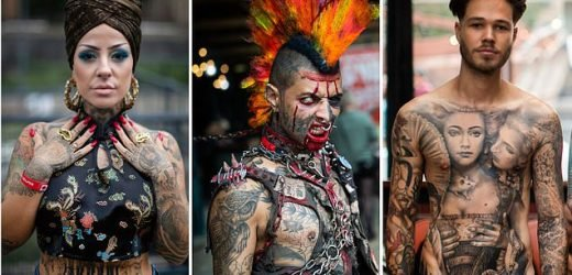 Tattoo artists show off body-art skills at huge convention in London