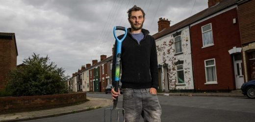 Hero chases armed gang with pitch fork while barefoot and in his boxer shorts