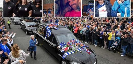 Thousands gather for Fernando Ricksen's funeral after Rangers legend died aged 43 from motor neurone disease