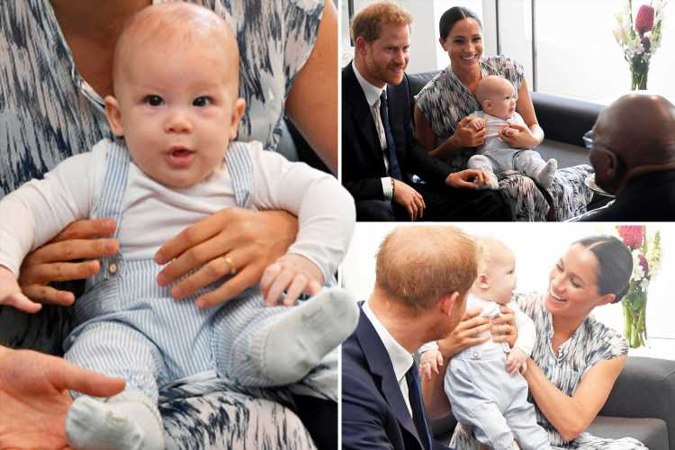Royal fans gush over adorable baby Archie saying he's an 'angel' as he makes surprise appearance on Africa tour with Meghan Markle and Prince Harry – The Sun