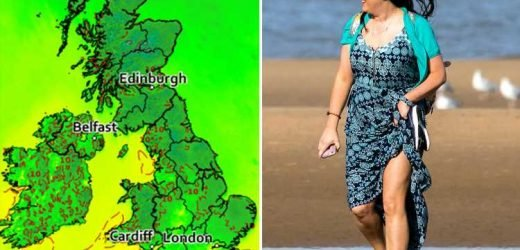 UK weather forecast: 20C Indian summer returns TODAY after temperatures plummeted to zero overnight