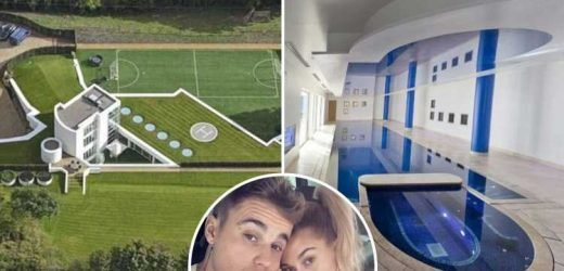 Inside Justin Bieber's £4 million mansion in Chester as it goes on sale with its own football pitch
