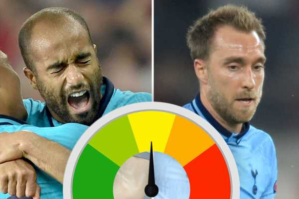 Spurs player ratings: Eriksen has a stinker while Moura's wonder goal caps solid performance for Brazilian vs Olympiakos – The Sun