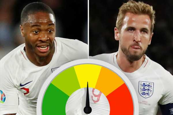 England ratings: Sterling stuns with sensational performance against Kosovo but Keane endures a night to forget – The Sun