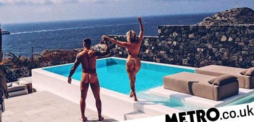 Olivia Buckland and Alex Bowen strip off to celebrate first wedding anniversary