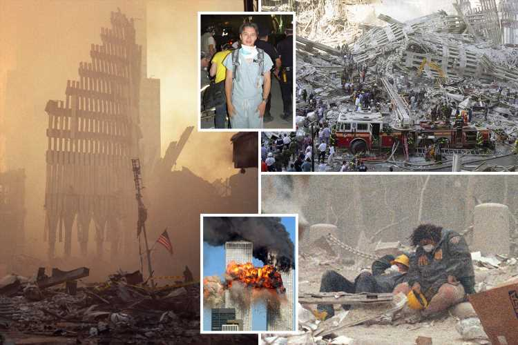 Harrowing unseen 9/11 pics show devastation and bloodshed at Ground Zero through the eyes of first doctor on scene