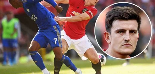 Watch why Man Utd fans are going mad for Harry Maguire's ball-winning heroics against former club Leicester in surprising clean sheet – The Sun