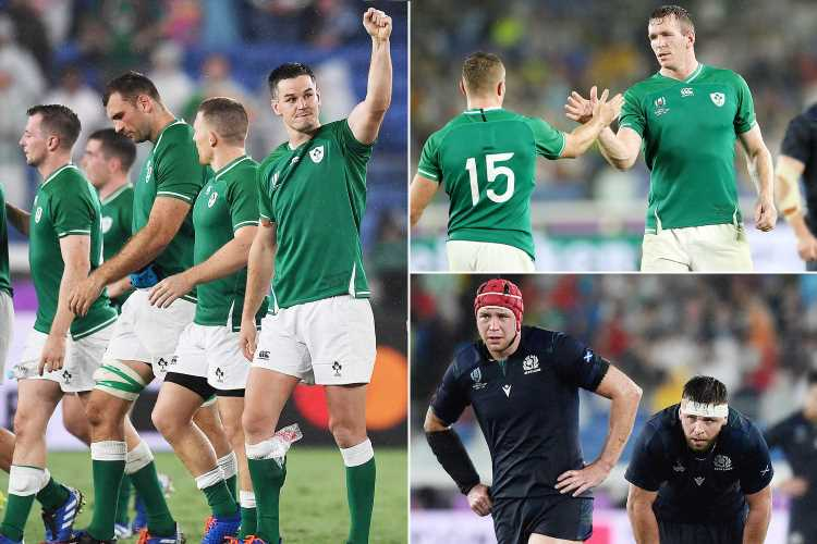 Ireland 27 Scotland 3: Joe Schmidt's side pick up bonus point with easy Rugby World Cup win in Celtic derby – The Sun