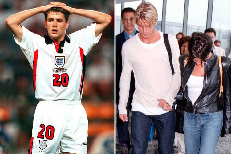 Michael Owen claims David Beckham let England down and says Victoria was disappointed in striker for not backing her husband over 1998 World Cup red card – The Sun